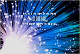 shine light